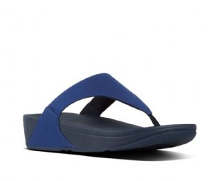 FitFlop  Womens LULU Shimmerlux Toe-Thongs Midnight Navy Sandals